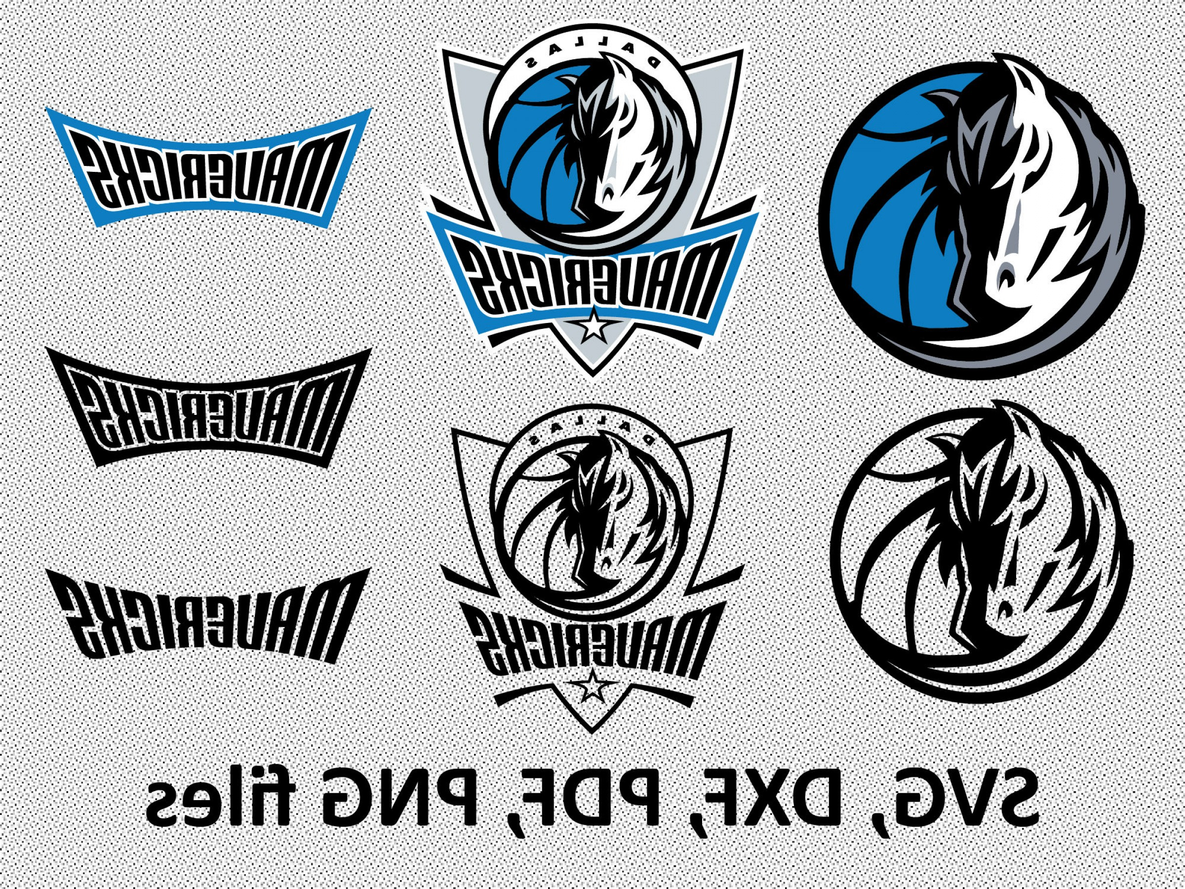 Vector NBA LogoArt: Dallas Mavericks Svg Dxf Pdf Png Clipart