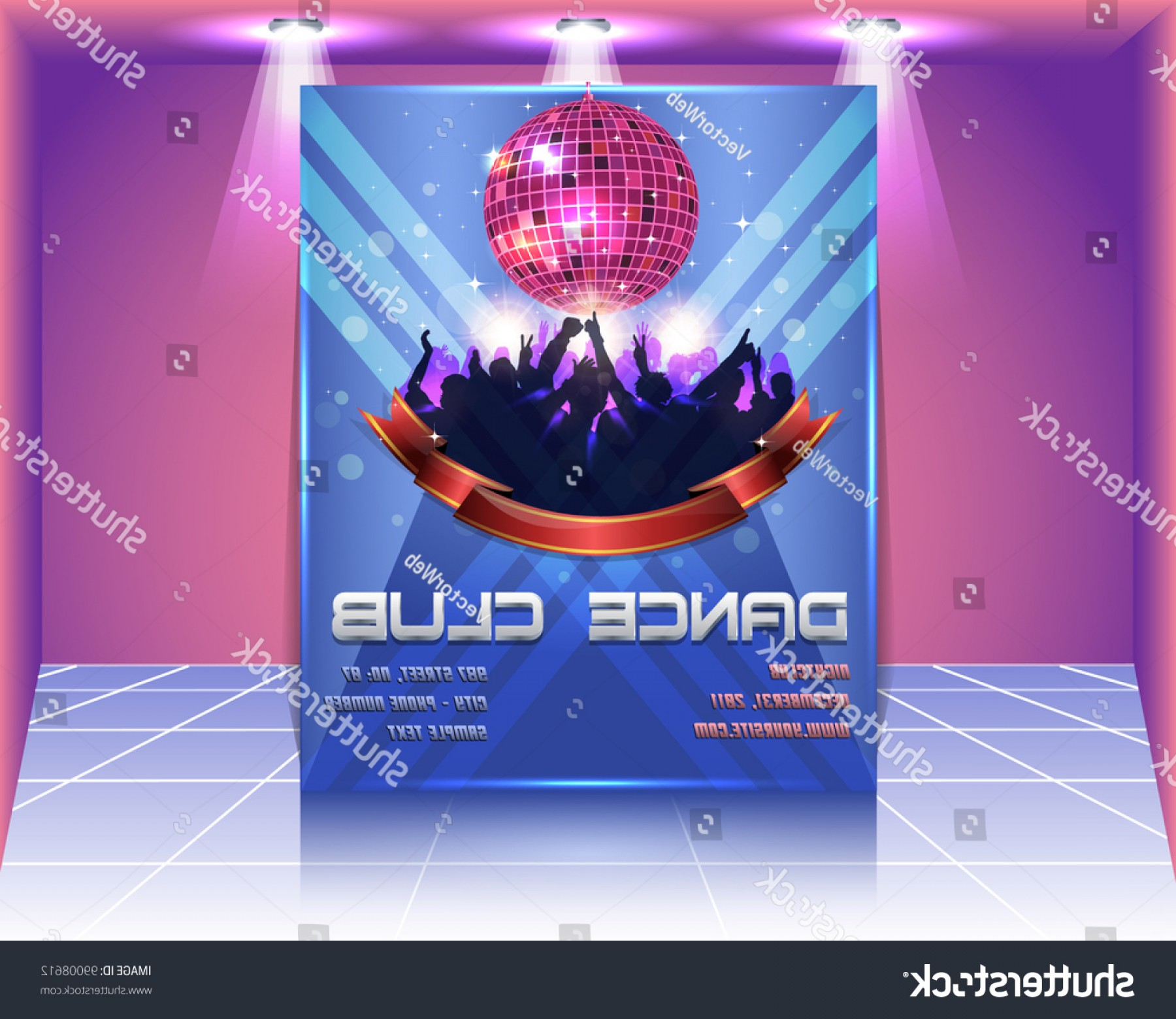 Club Flyer Vector: Dance Club Flyer Vector Template