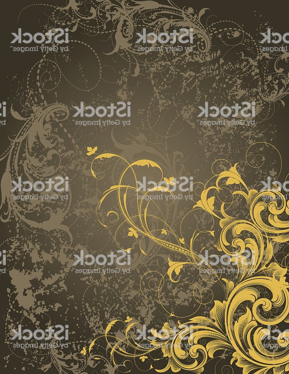 Grunge Scroll Vector Design: Dark Grunge Scroll Background Gm