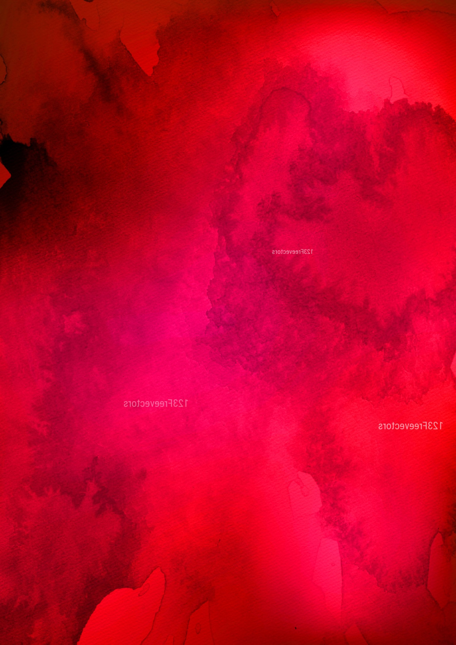 Distressed Red Background Vector: Dark Red Distressed Watercolour Background Image