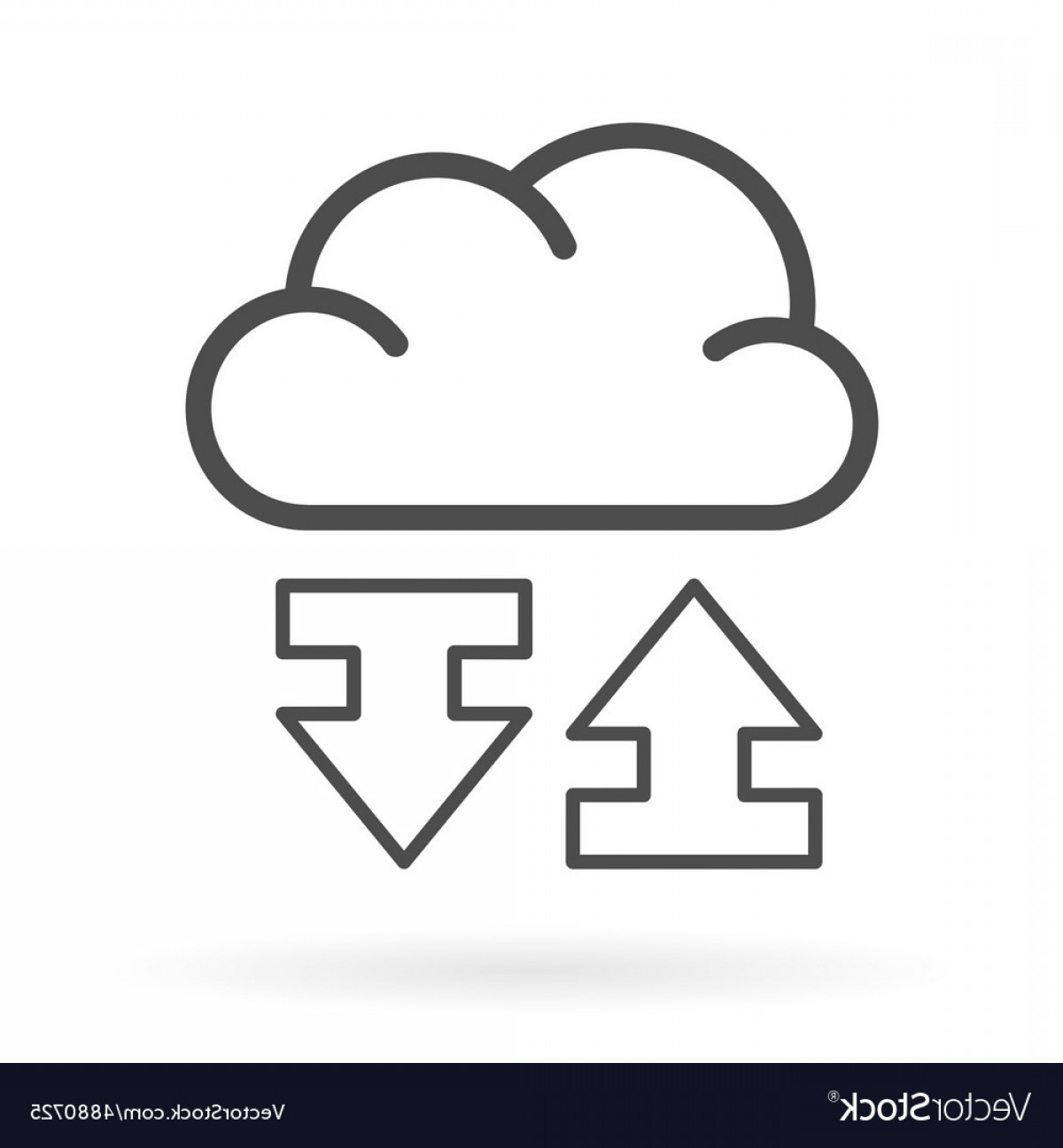 Vector Data Exchange: Data Exchange Cloud Service Icon Vector