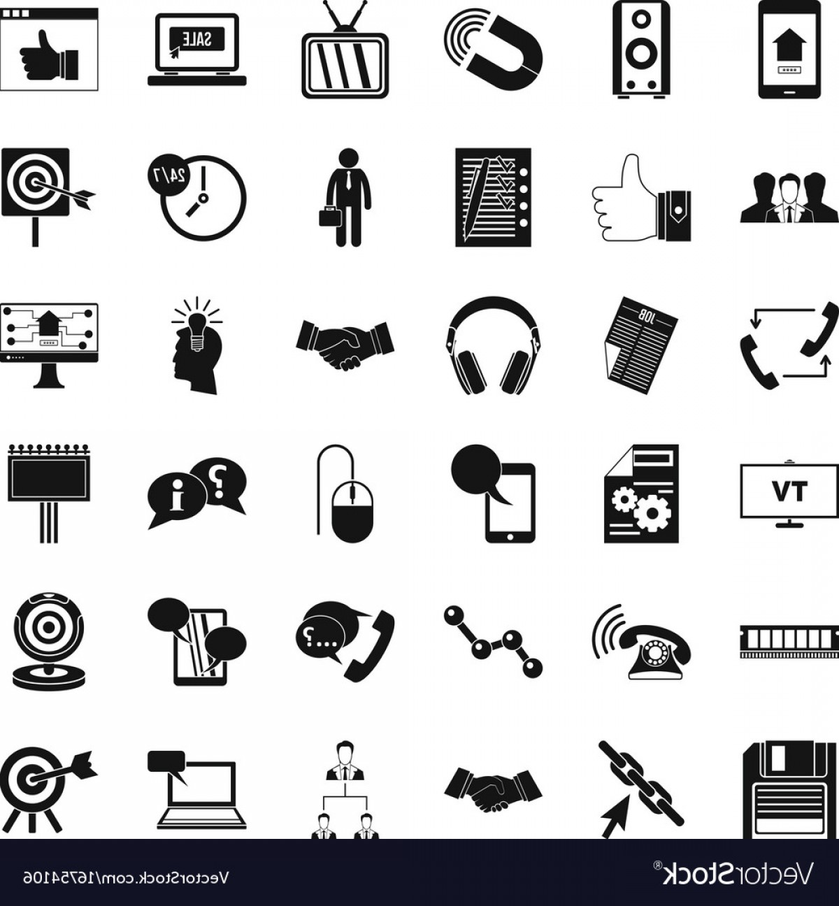 Vector Data Exchange: Data Exchange Icons Set Simple Style Vector