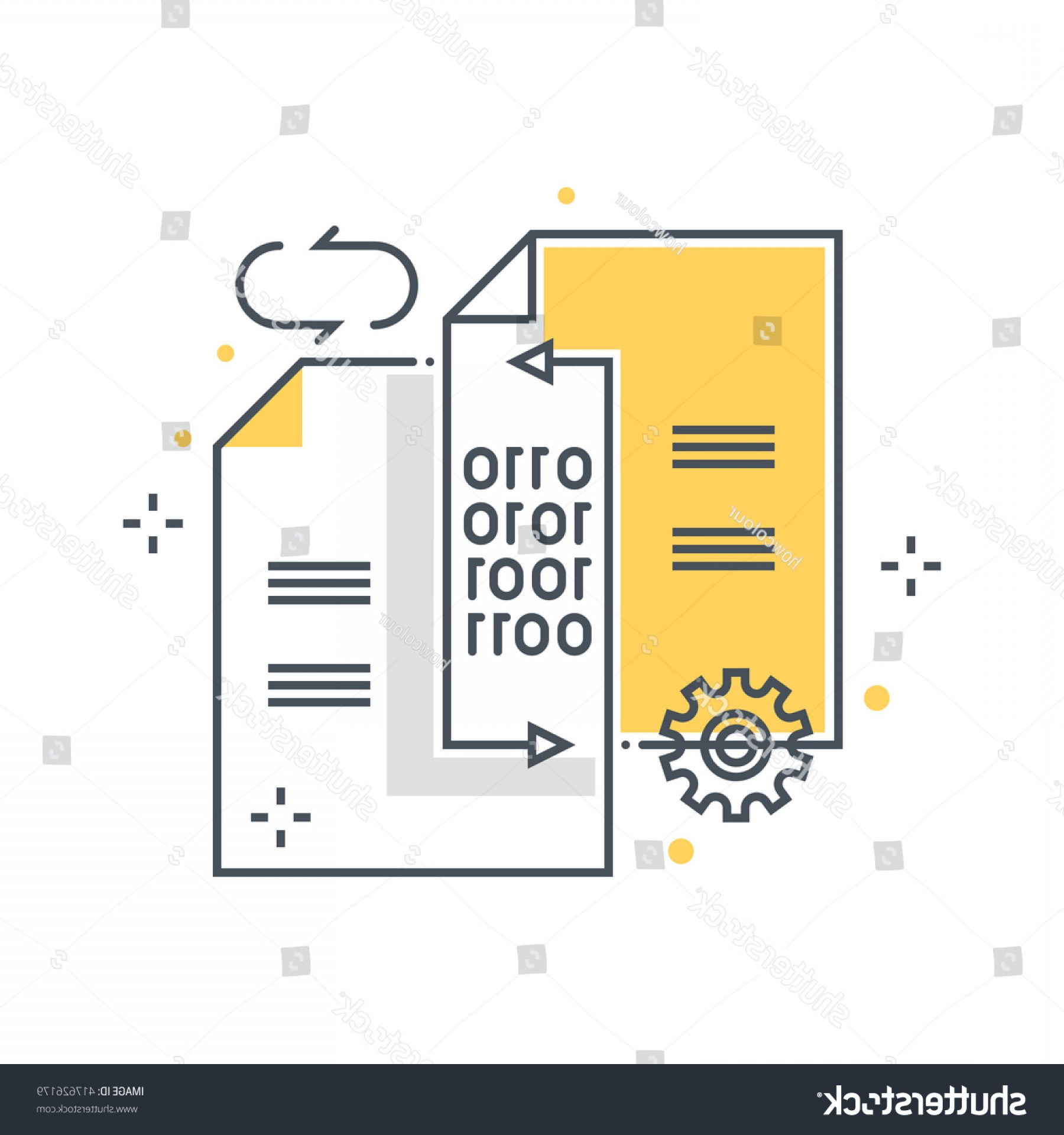 Vector Data Exchange: Data Exchange Transfer Concept Illustration Icon