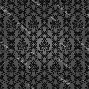 Distressed Damask Vintage Vector: Dark Elegant Floral Vintage Wallpaperseamless Damask