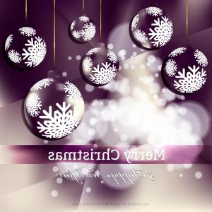 Purple Christmas Ornaments Vector: Abstract Purple Christmas Ornament Background Image