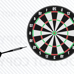 Dart Vector Silhouette: Dartboard With Dart Svg File For Cricut