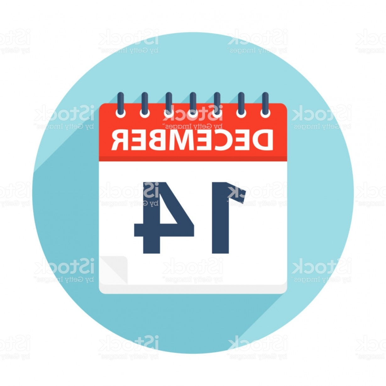 Vector Calendar Icon December 14th: December Calendar Icon Gm