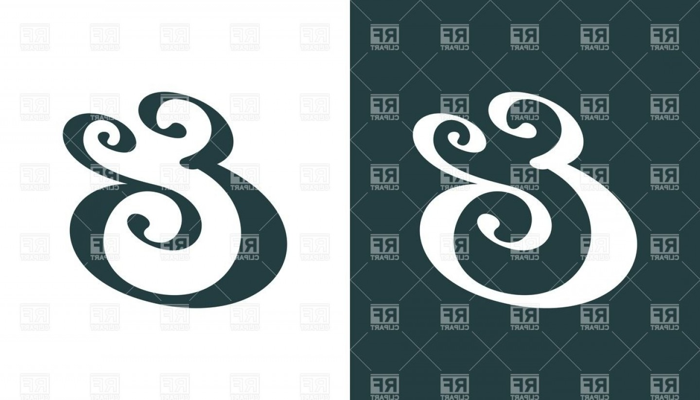 Ampersand Symbol Vector: Decorative Ampersand Symbol For Wedding Invitation Vector Clipart