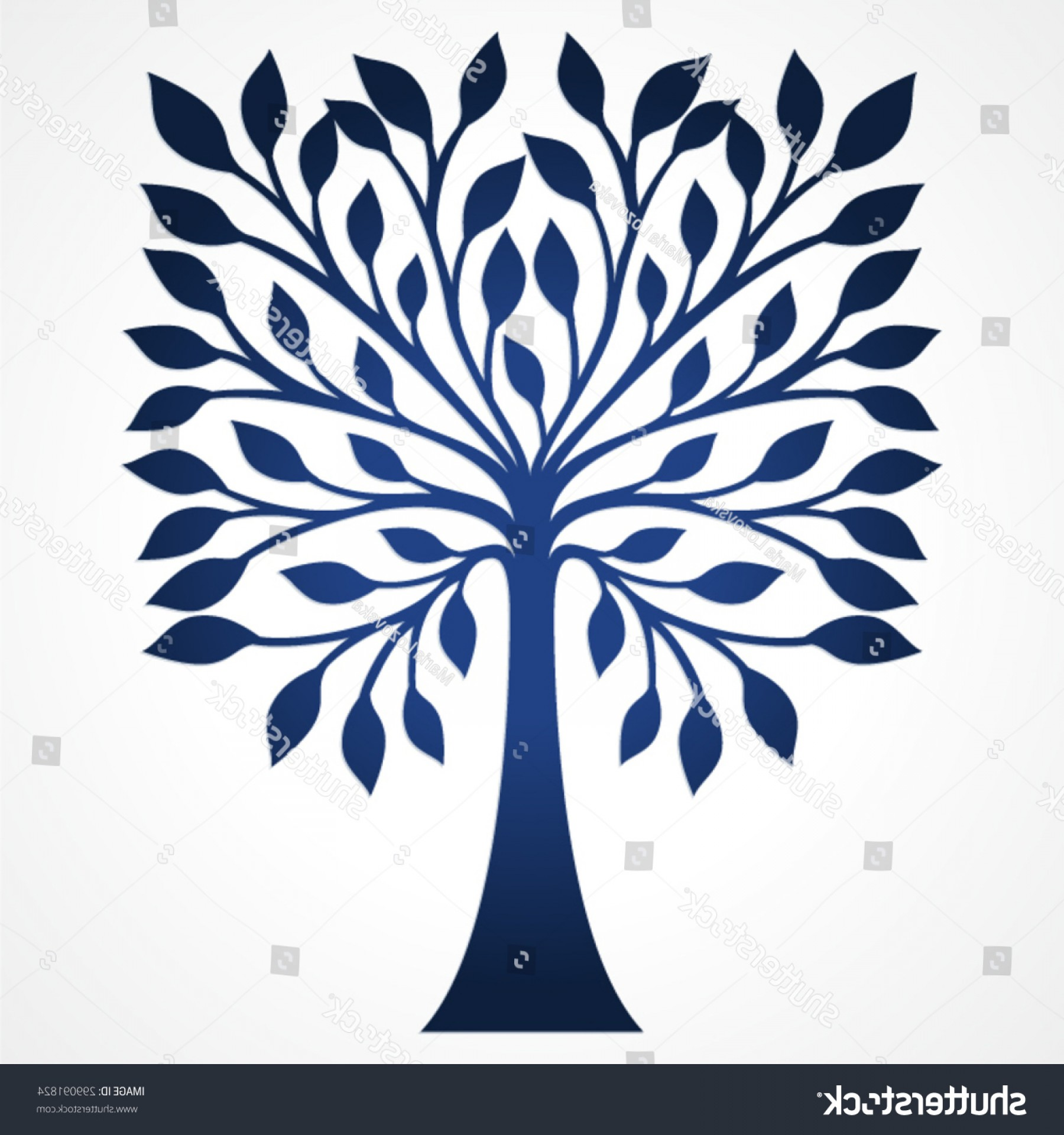 Wood Cutting Vector: Decorative Simple Tree May Be Used