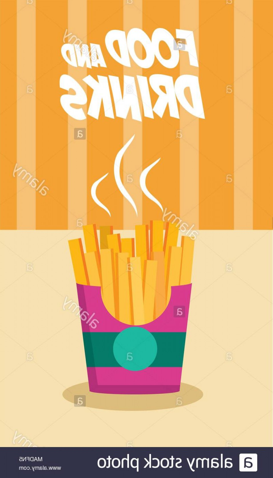Fries Vector: Delicious French Fries Vector Illustration Graphic Design Image
