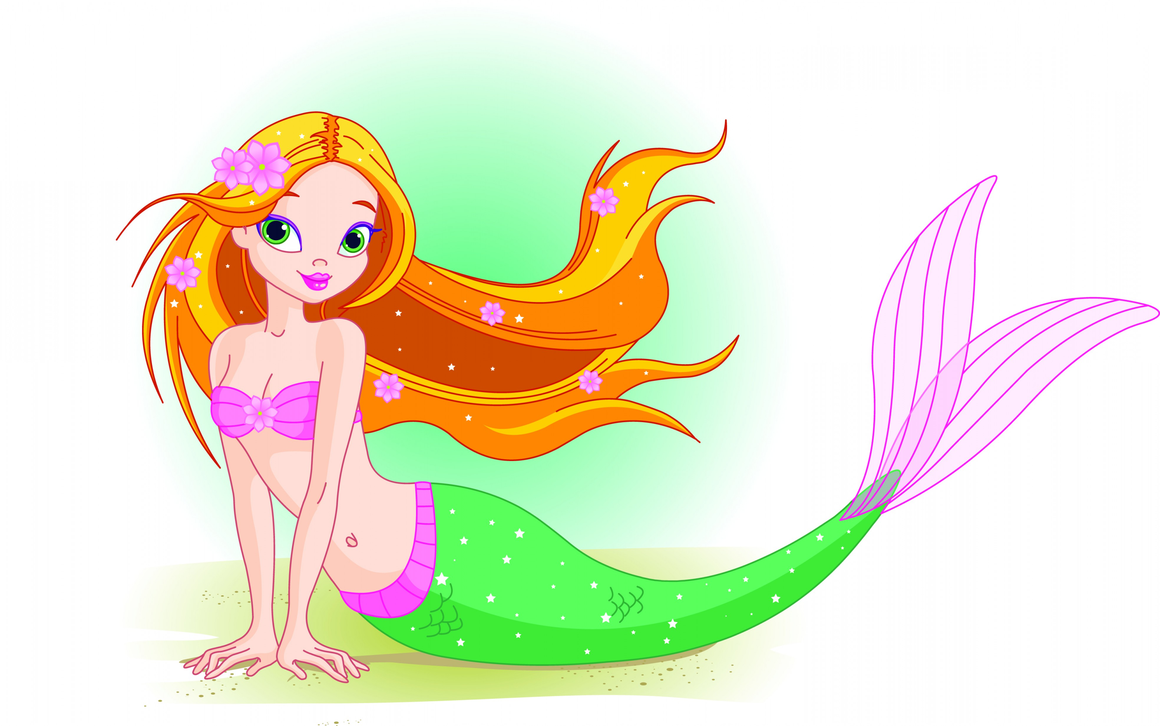 Anna And Elsa Vector: Delighted Mermaid Pictures For Kids Unlimited Cartoon Picture Of Vector Free Vector