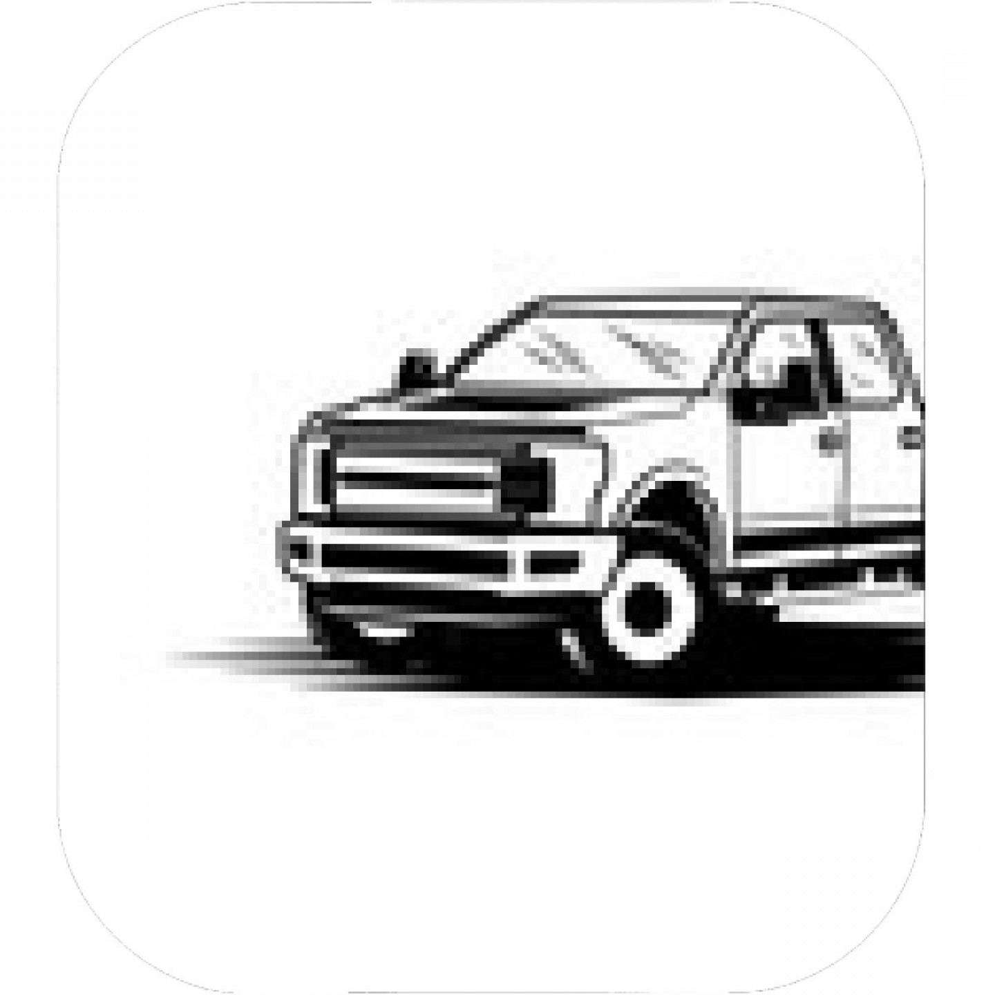 F150 Vector: Delivery Service Truck Isolated Icon