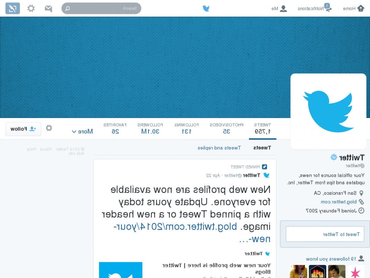 Vector Twitter Icon 2014: Design For Twitter S New Ui Header Template