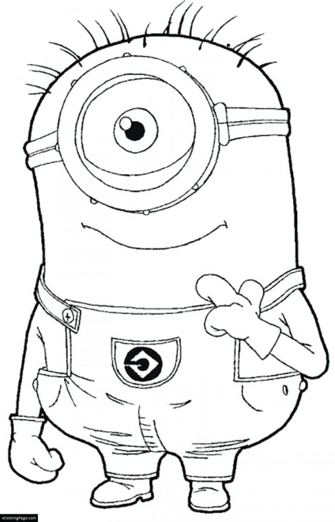 Despicable Me Vector Piranha: Despicable Me Coloring Pages One Eye Minion Page For Vector