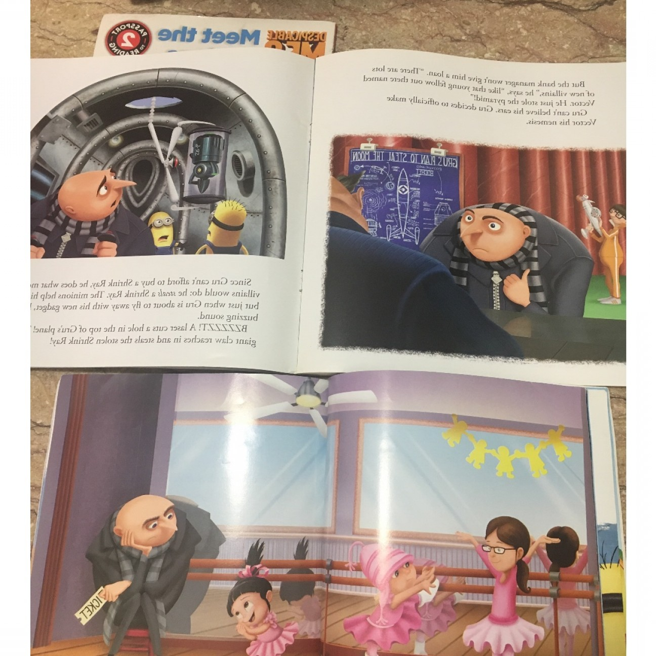 Gru Vs Vector Shrinking Ray: Despicable Me Story Books Minions