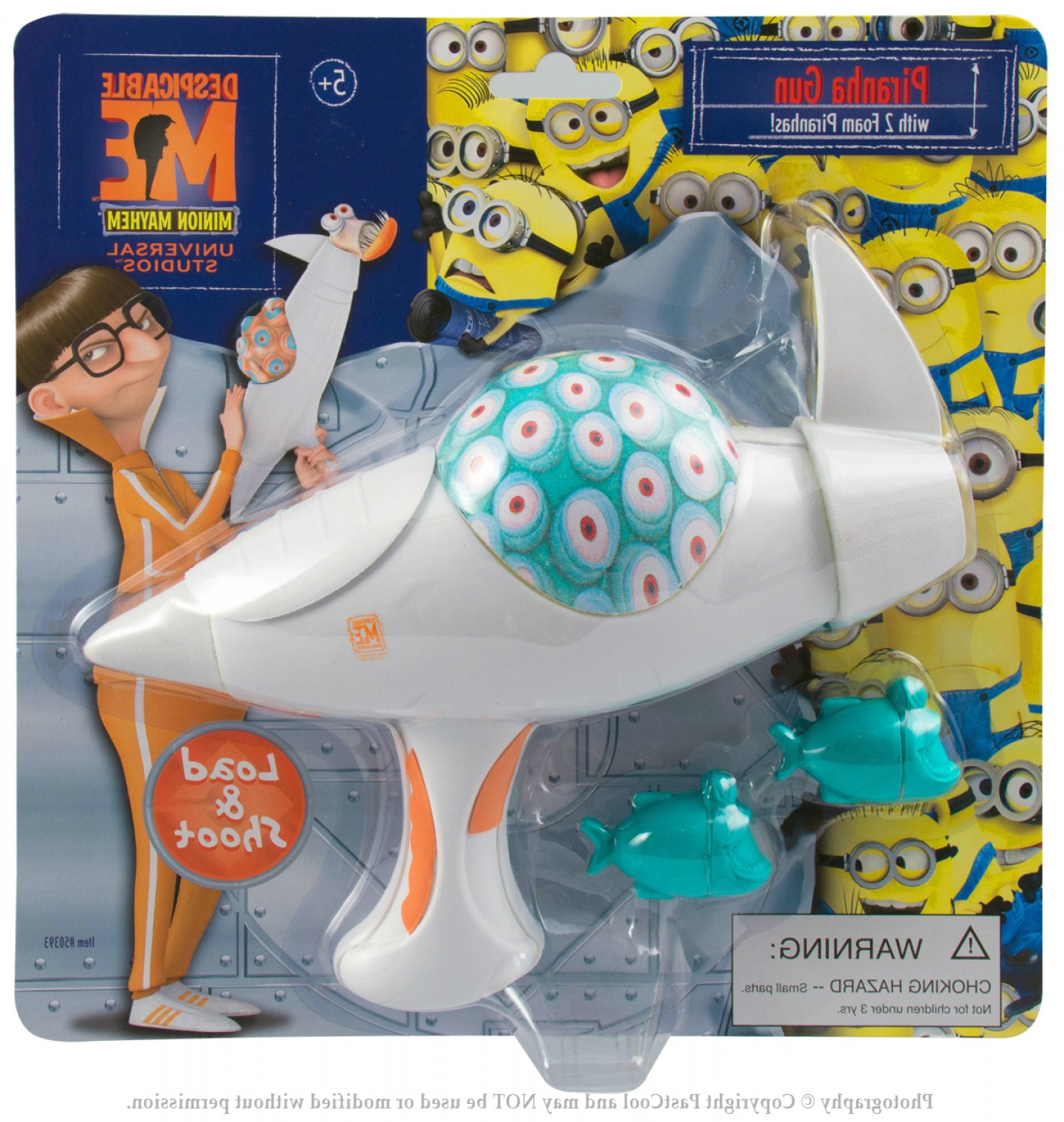Despicable Me Vector Piranha: Despicable Me Vector Battle Piranha Gun Foam Toy Universal New