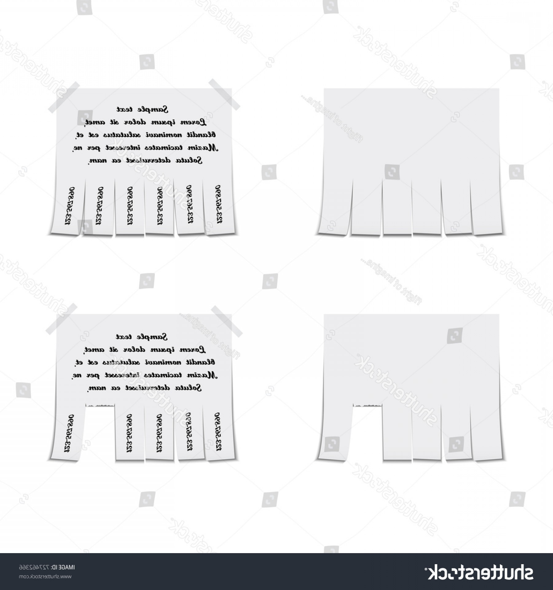 Vector Newspapers Snacks: Detachable Paper Advertisement Template Vector Illustration