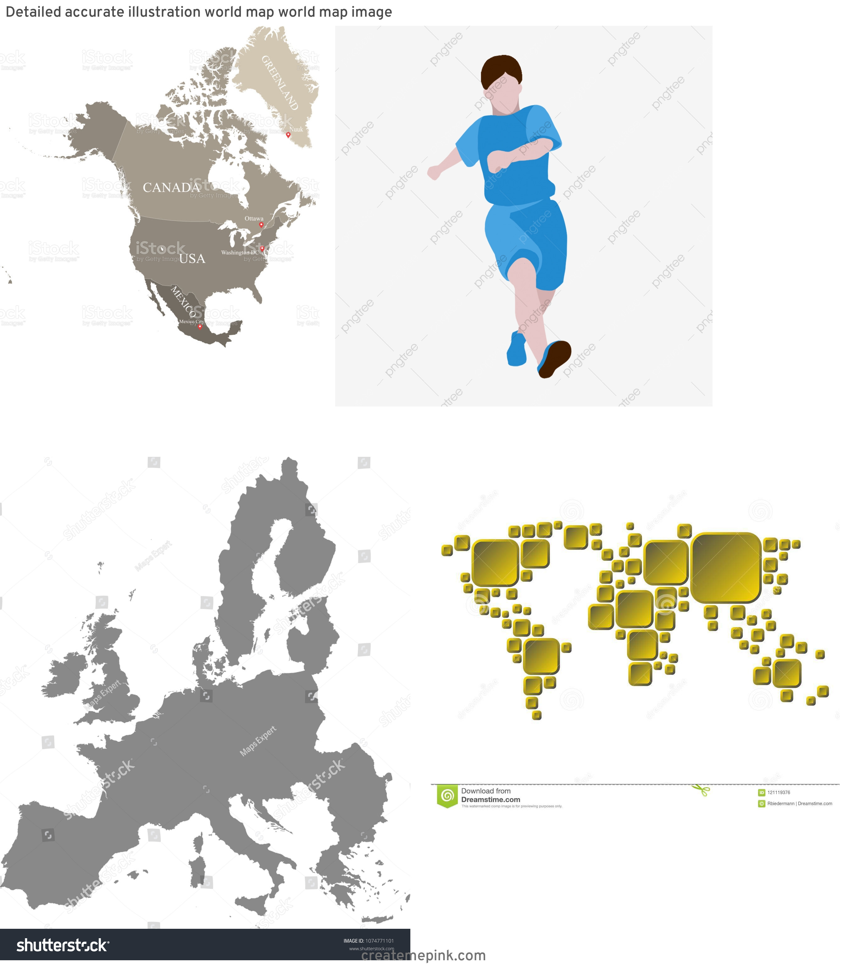Accurate World Map Vector: Detailed Accurate Illustration World Map World Map Image