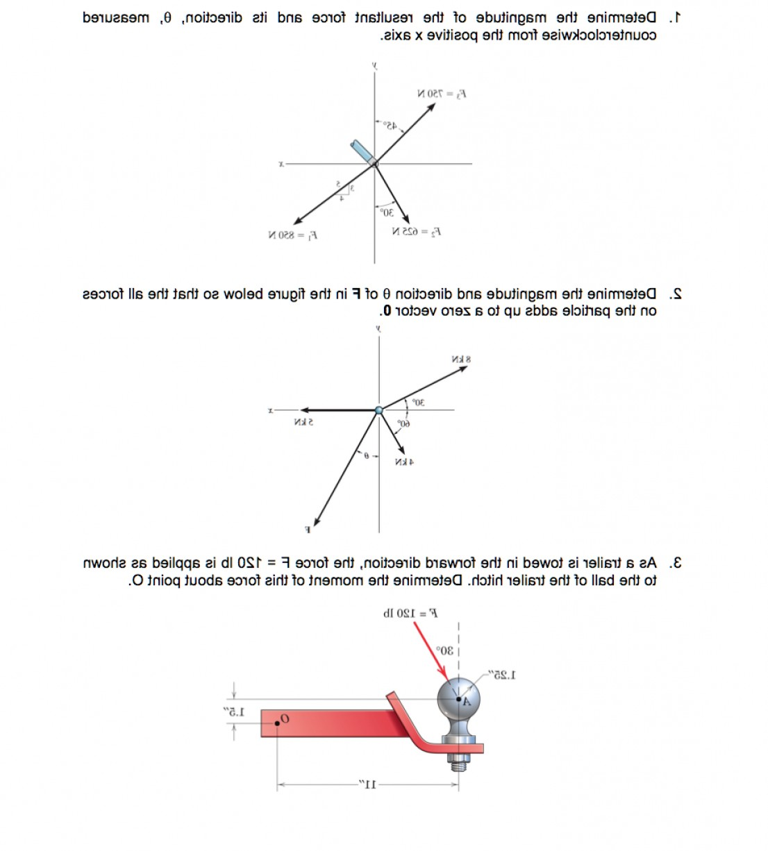 2.Solve Resultant Vectors: Determine Magnitude Resultant Force Direction Measured Counterclockwise Positive X Axis S Q