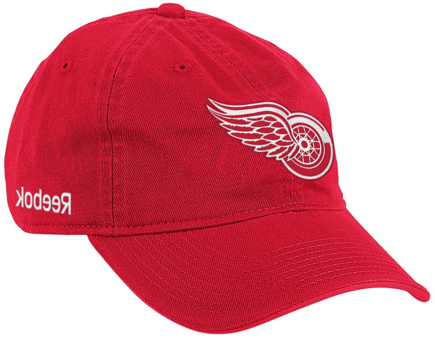 Detroit Red Wings Vintage Logo Vector: Detroit Red Wings Red Reebok Nhl Slouch Z Baseball Hat