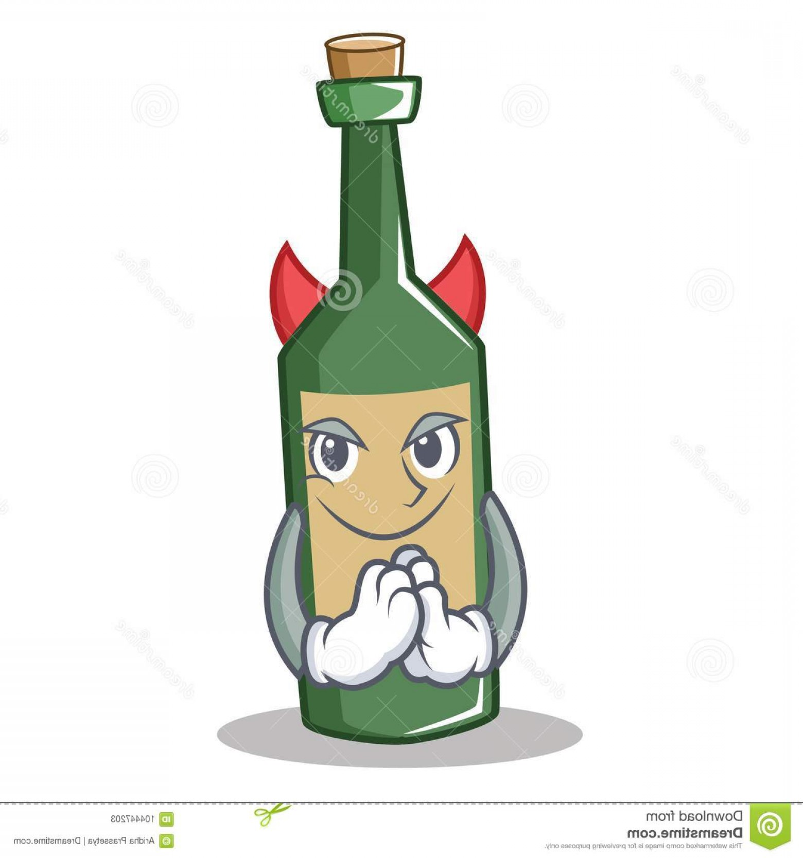 Vector Travel APS: Devil Wine Bottle Character Cartoon Vector Illustration Devil Wine Bottle Character Cartoon Image
