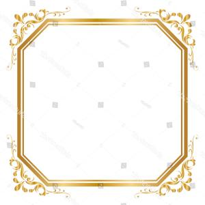 Square Gold Frame Vector PNG: Png Area Square Inc Pattern Vector Gold Frame