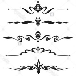 Decorative Text Vector: Abstract New Year Decorative Text Design Background