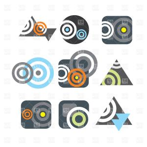 Contents Symbol Vector: Abstract Symbol Of Piracy Skull With Bones Vector