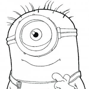 despicable me coloring pages one eye minion page for vector