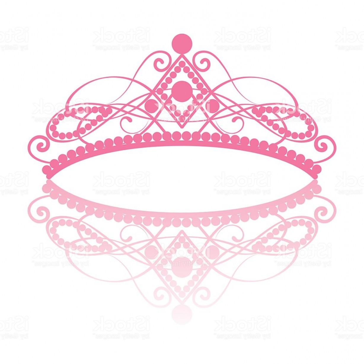 Pageant Tiaras Vector: Diadem Elegance Feminine Tiara With Reflection Gm