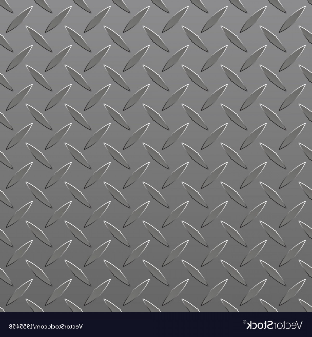 Diamond Plate Vector Pattern: Diamond Plated Seamless Metal Sheet Vector