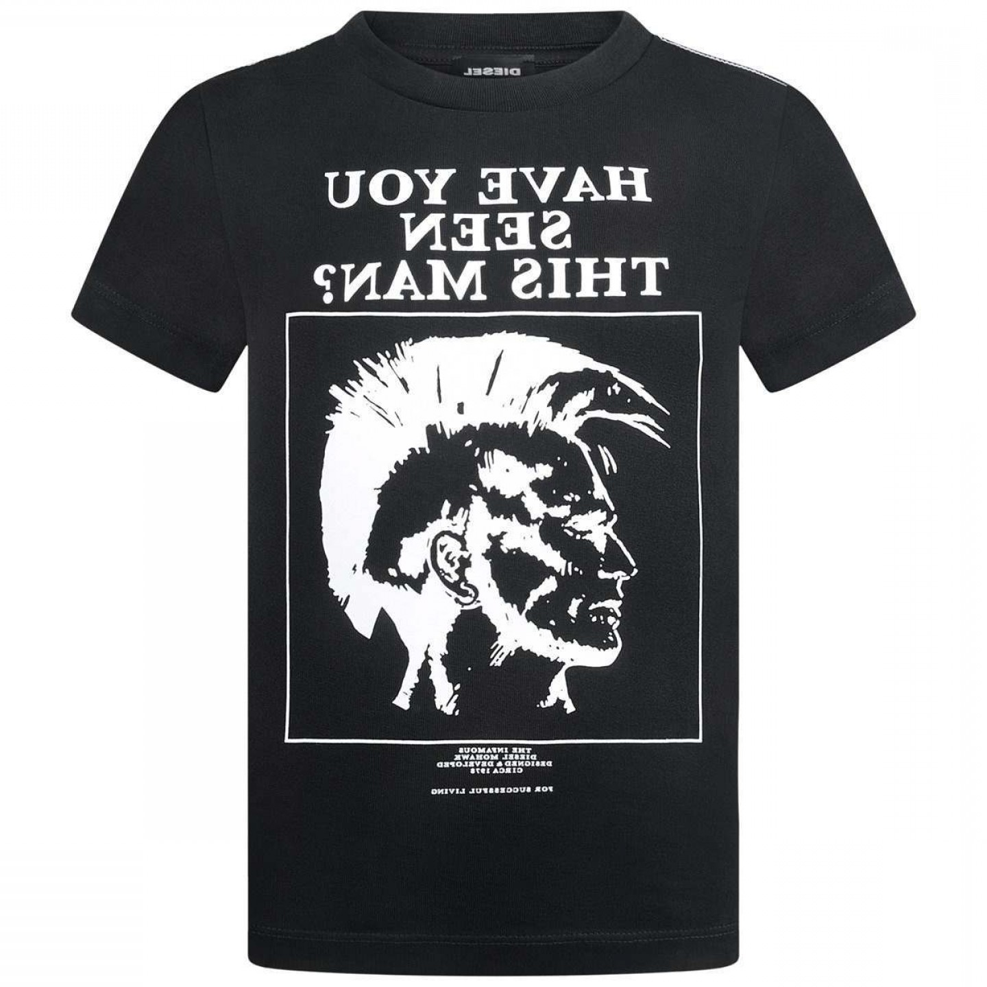 Diesel T-Shirt Vector: Diesel Boys Black Have You Seen This Man Top