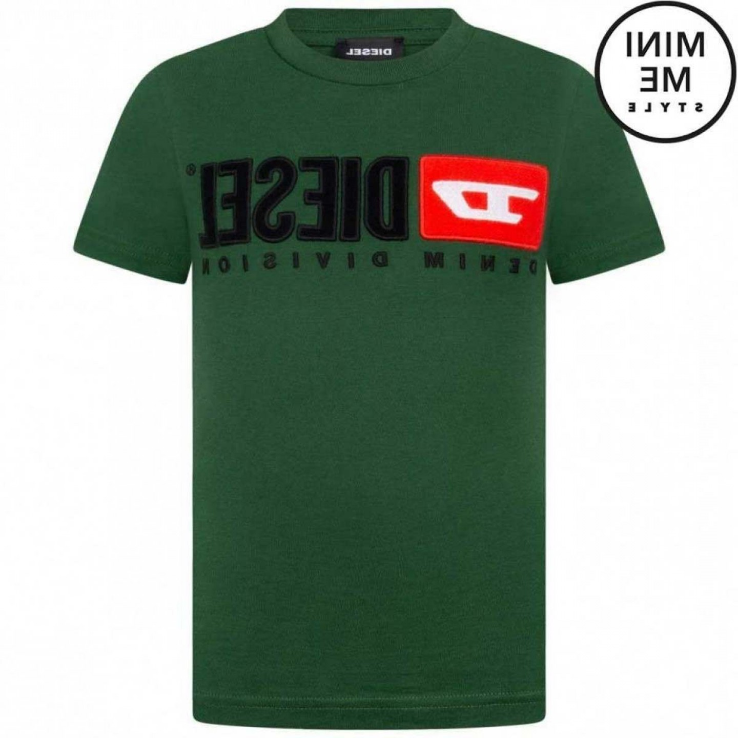 Diesel T-Shirt Vector: Diesel Boys Green Cotton Logo Top