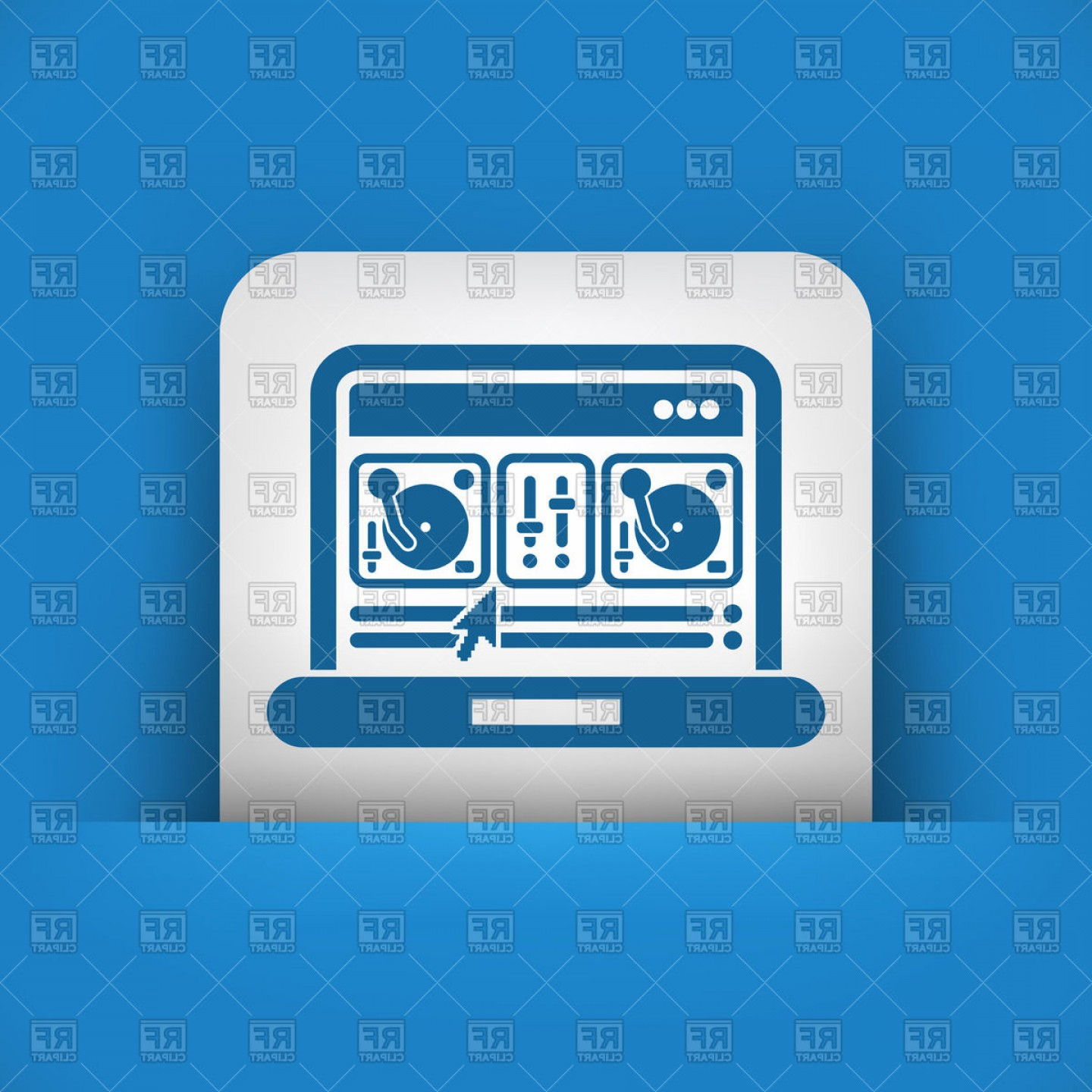 Free Vector File Software: Digital Mixing Console Software Interface Icon Vector Clipart