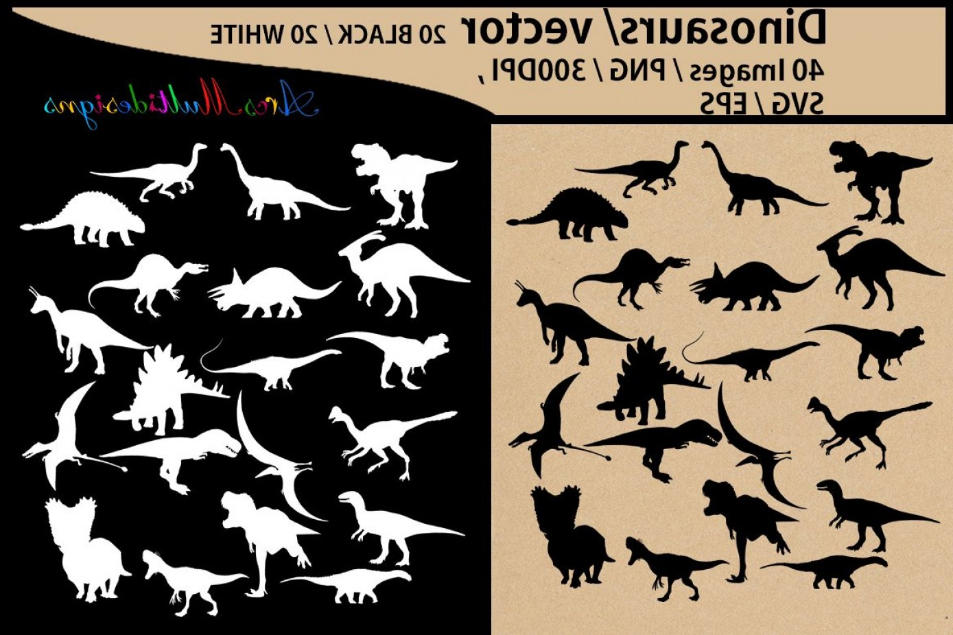 Vector Dinosorous: Dinosaurs Silhouette Svg Dinosaur Clipart Iron On Transfer Scrapbooking And Crafts Svg Template Eps Png Animal Silhouette Vector