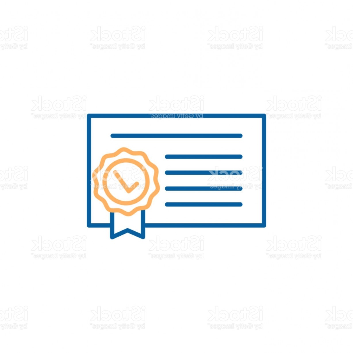 Diploma Icon Vector: Diploma Icon Vector Quality Certificate With Seal Thin Line Illustration Design Gm