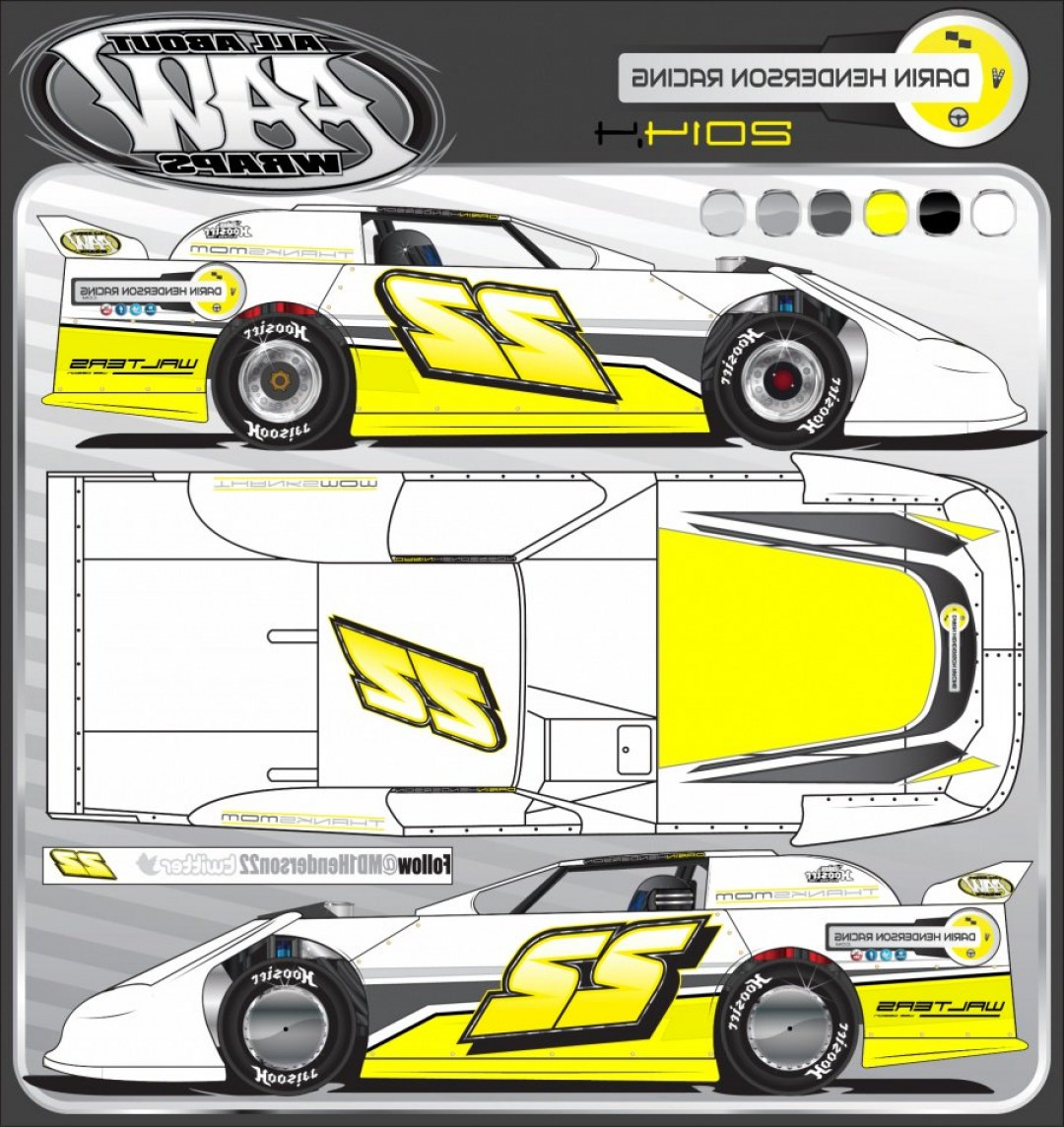Late Model Race Car Vector Art: Dirt Late Model Darin Henderson Dirt Track Racing Website