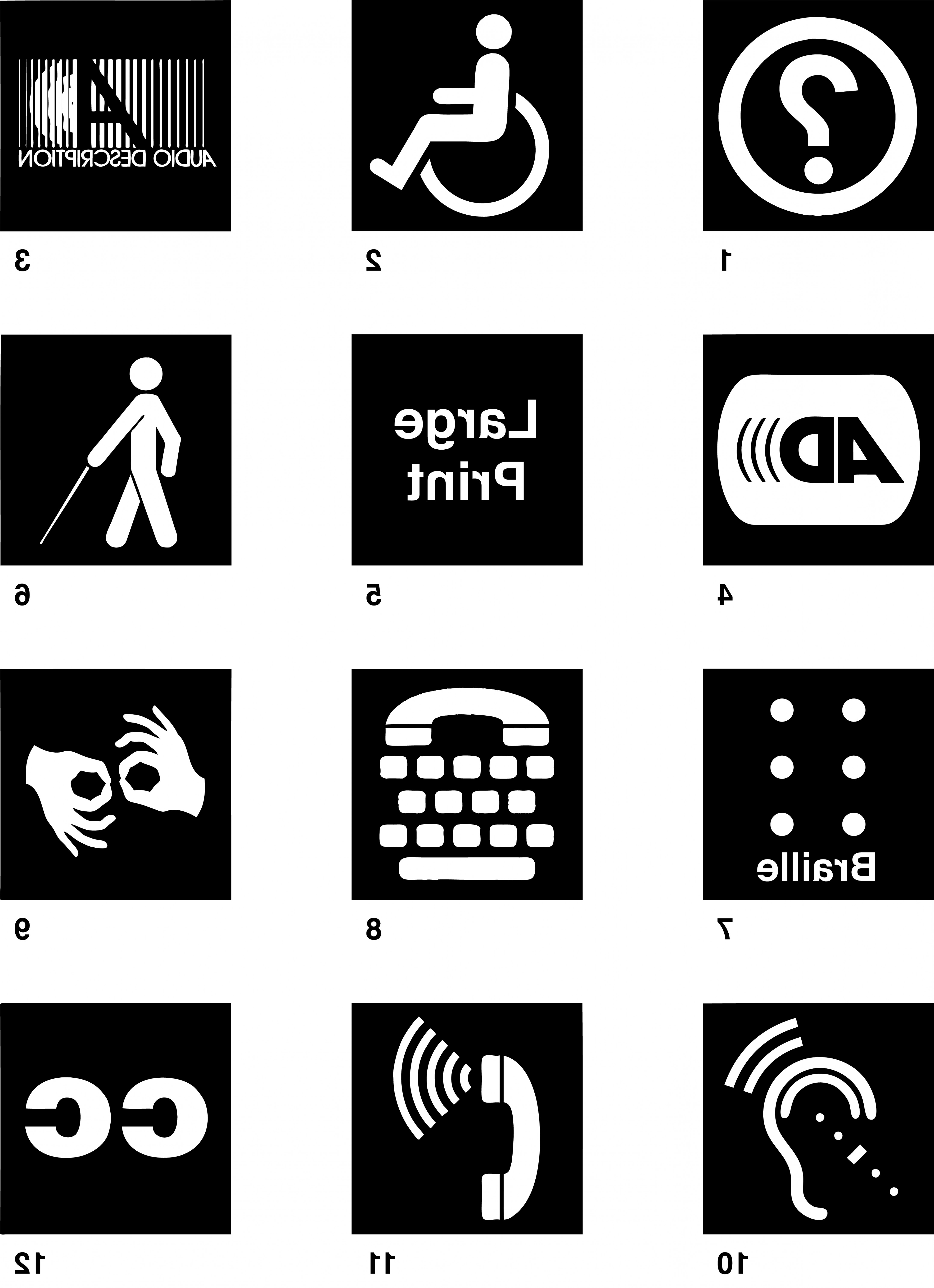 Free Vector Download Sites: Disability Access Sign Symbols For Download