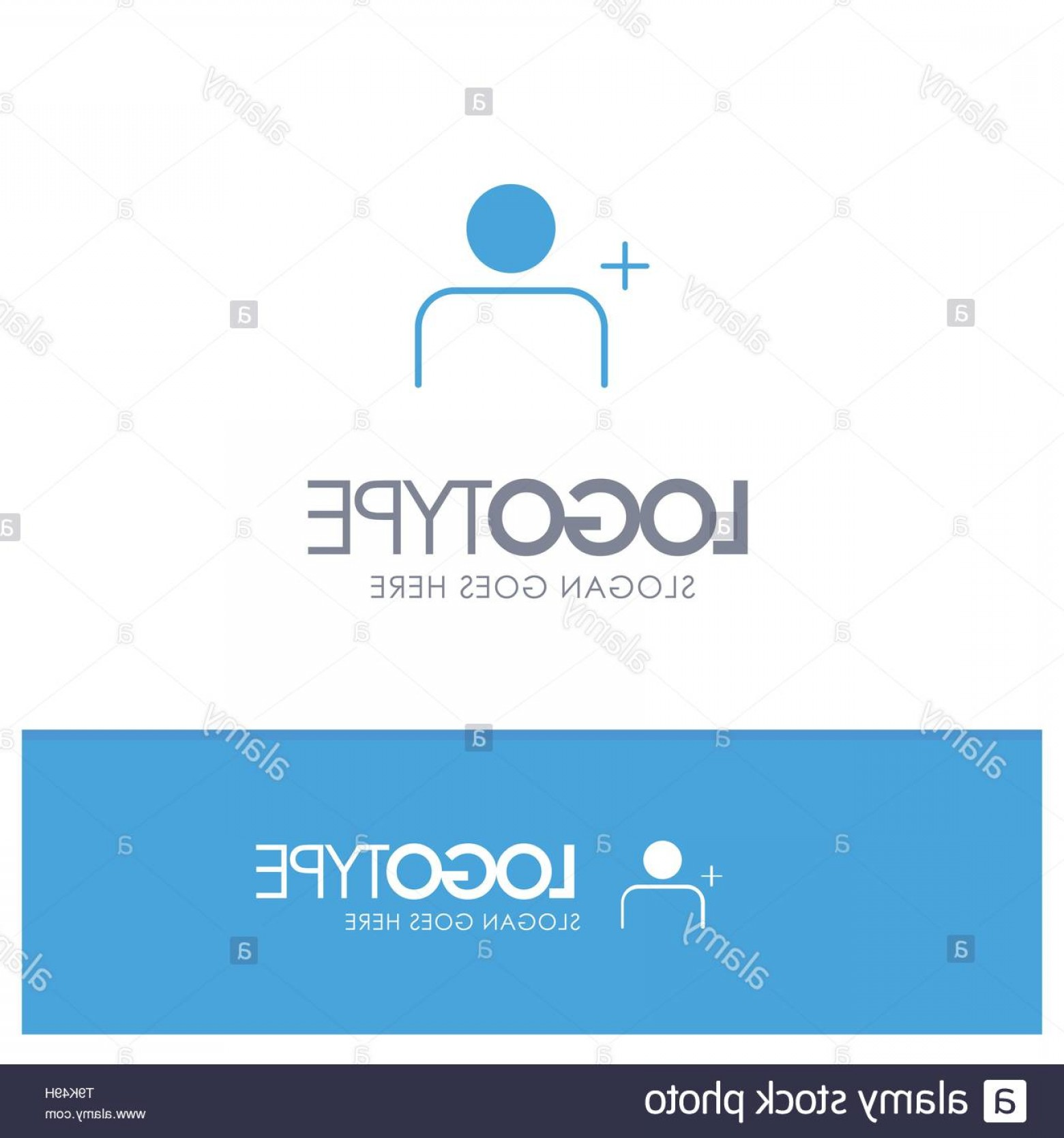 Discover Logo Vector: Discover People Instagram Sets Blue Solid Logo With Place For Tagline Image