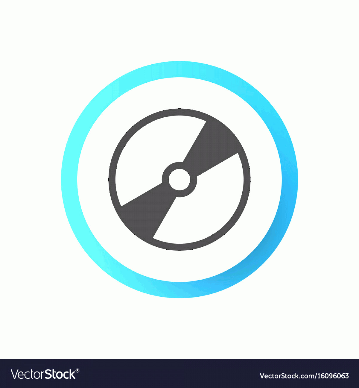 Vector CD- ROM: Disk Icon Symbol Premium Quality Isolated Cd Rom Vector