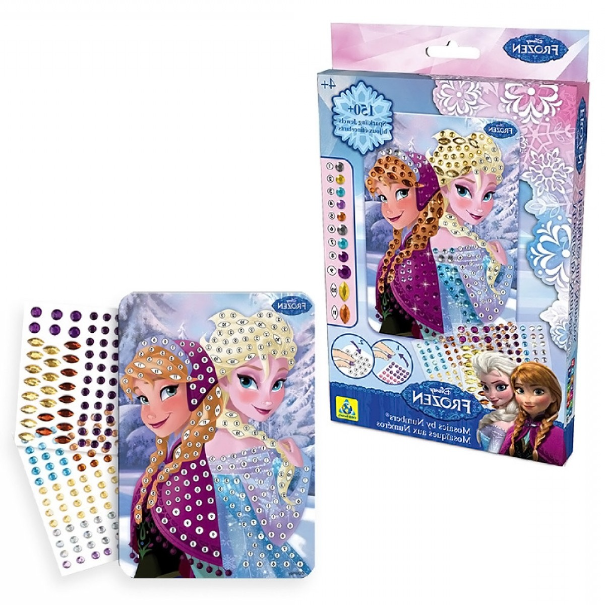 Anna And Elsa Vector: Disney Frozen Anna Elsa Mosaic By Numbers