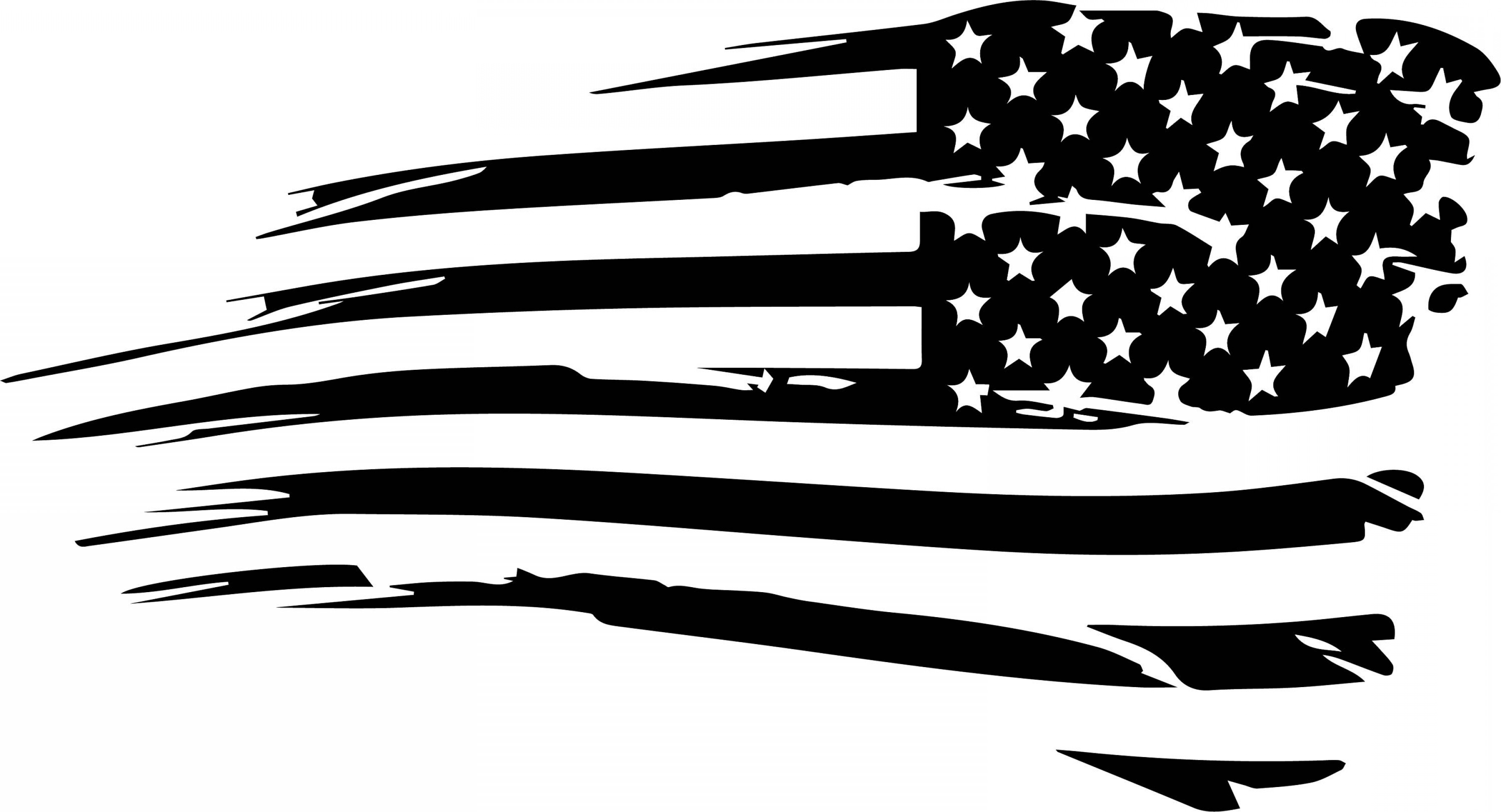 Distressed Flag Vector Digital: Distressed American Flag Vector Cut File