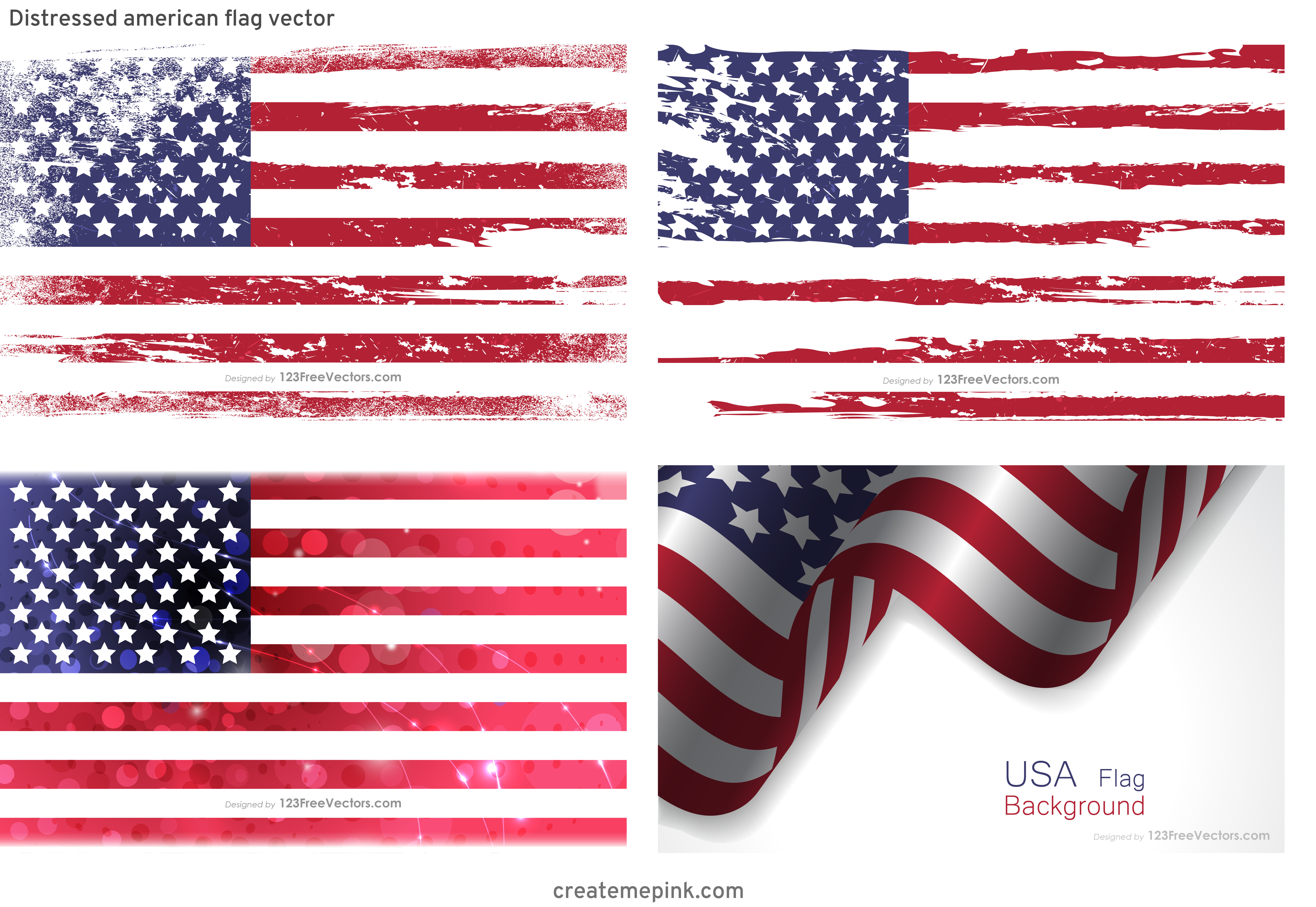 Waving Distressed Flag Vector: Distressed American Flag Vector