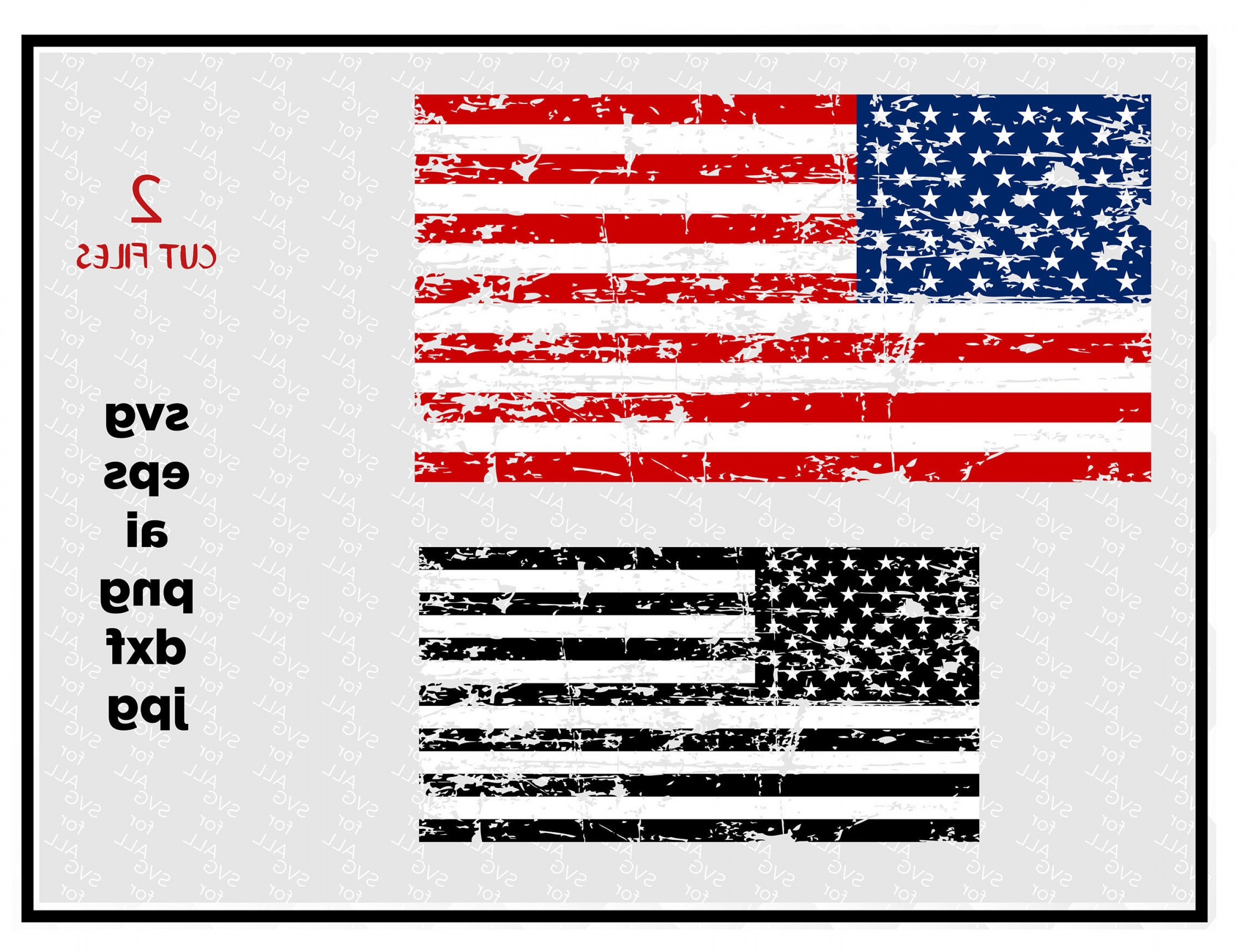 Distressed Flag Vector Digital: Distressed American Flags Svg Cut File