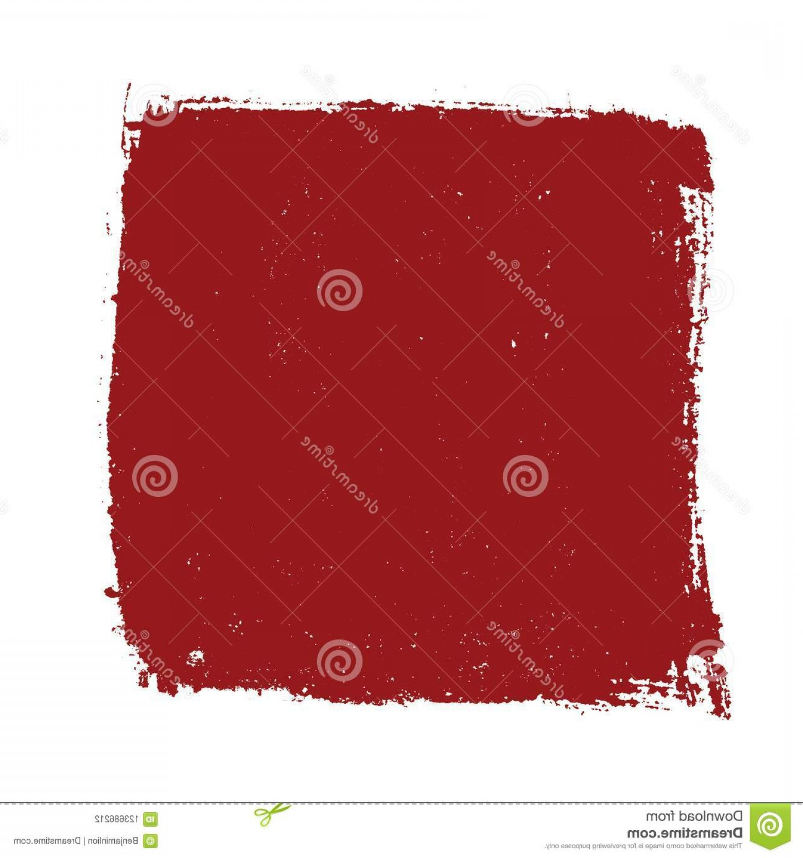 Distressed Red Background Vector: Distressed Bold Red Isolated Banner Texture Paint Brush Background Empty Design Element Grunge Overlay Mockup Original Logo Blank Image