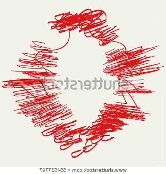 Distressed Red Background Vector: Distressed Circle Stamp Vector Red Color