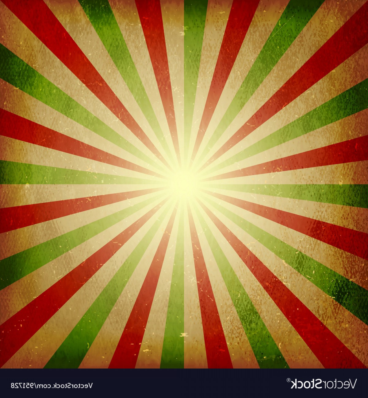 Distressed Red Background Vector: Distressed Green Red Light Burst Background Vector