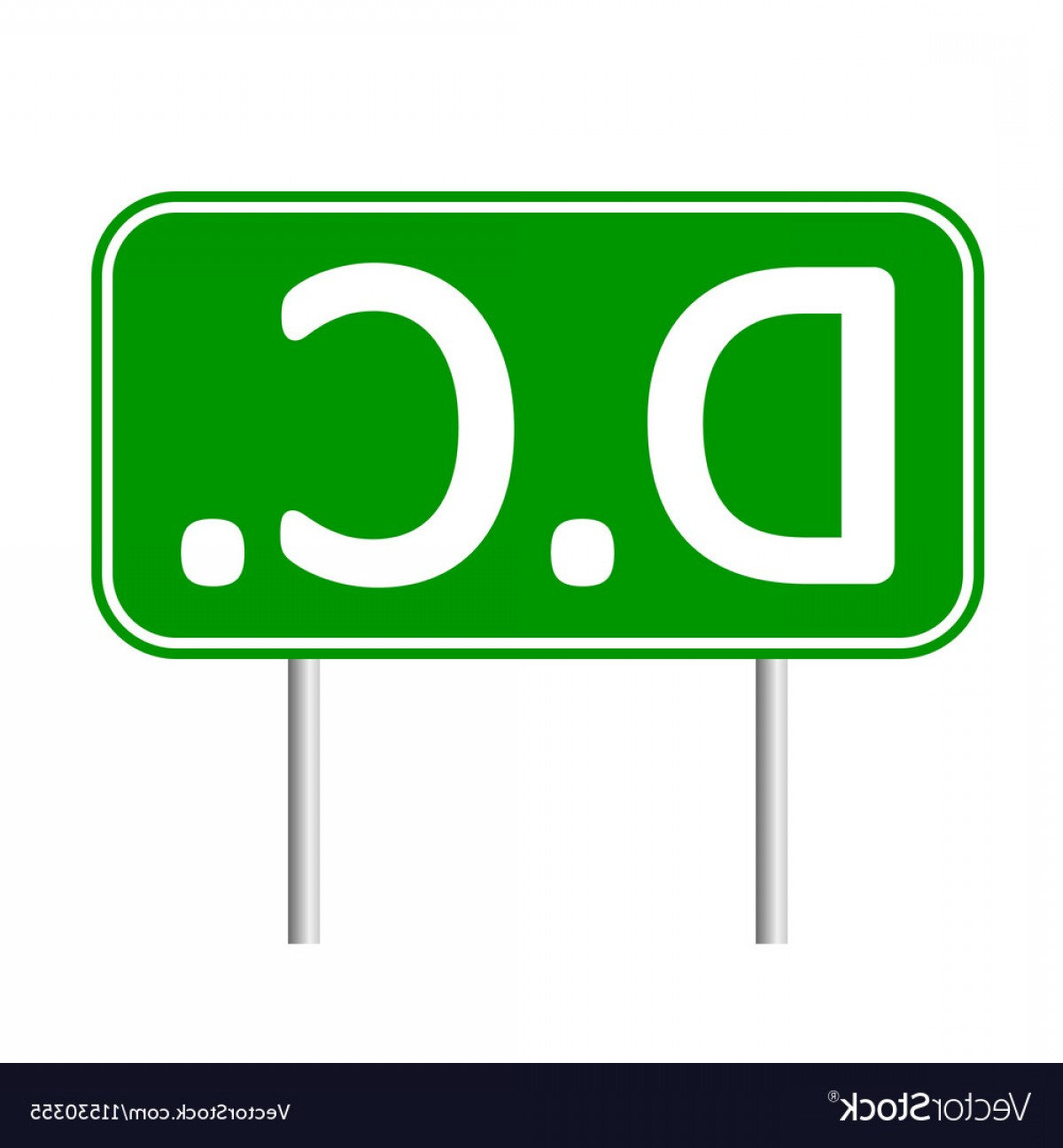 Columbia Logo Vector: District Of Columbia Green Road Sign Vector