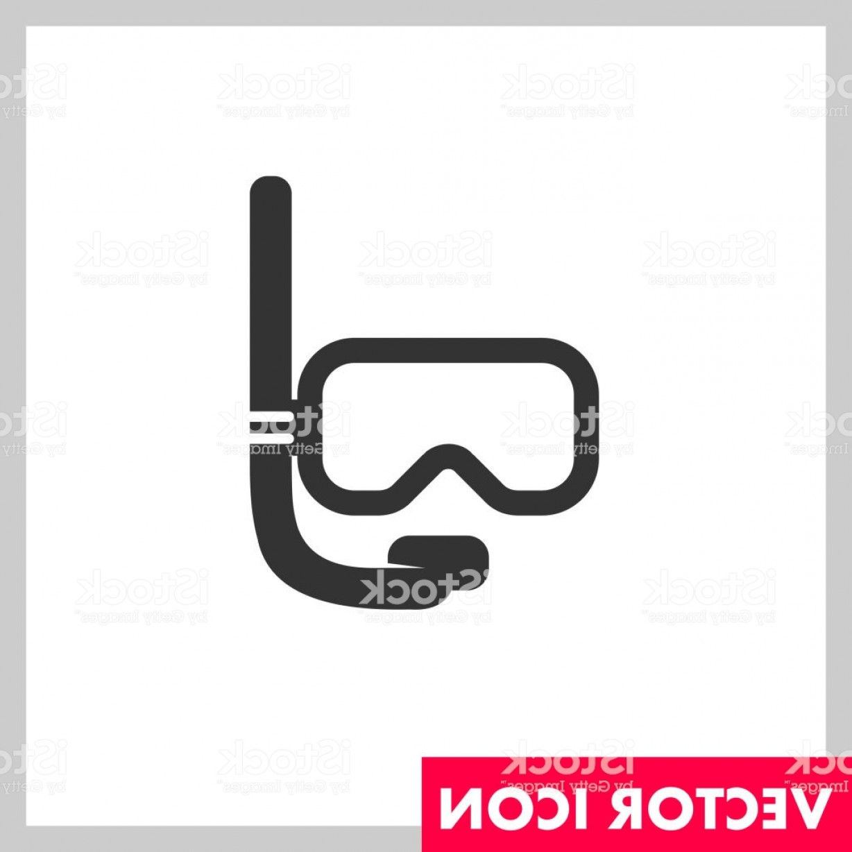 Dive Mask E Vectors: Diving Mask Vector Icon Gm