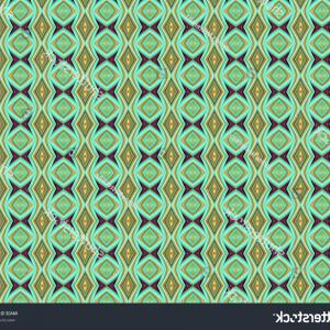 Vector Arabic Squiggly Line: Arabesque Seamless Black White Pattern
